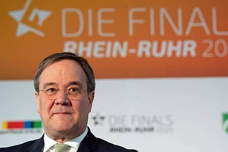 Laut NRW-Ministerpräsident Armin Laschet hat sich das Land mit vier Millionen Euro am Budget für die Ausrichtung der Finals beteiligt. Foto: Federico Gambarini/dpa