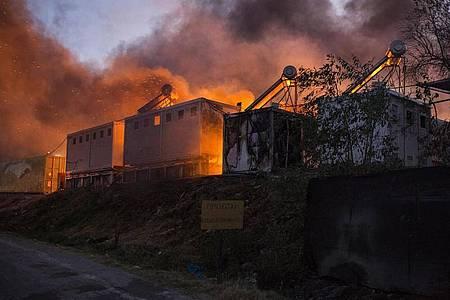 Das Flüchtlingslager Moria ist abgebrannt. Foto: Socrates Baltagiannis/dpa