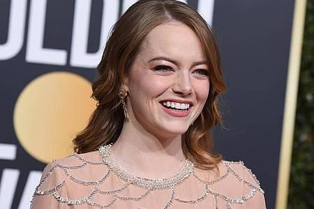 Emma Stone kommt 2019 zur Verleihung der 76. Golden Globe Awards in den USA. Foto: Jordan Strauss/Invision/AP/dpa
