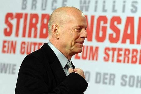 Mit Bruce Willis bekam das Action-Kino eine neue Qualität. Foto: picture alliance / Britta Pedersen/dpa-Zentralbild/dpa