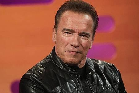Arnold Schwarzenegger freut sich auf den Kinosommer. Foto: Isabel Infantes/PA Wire/dpa