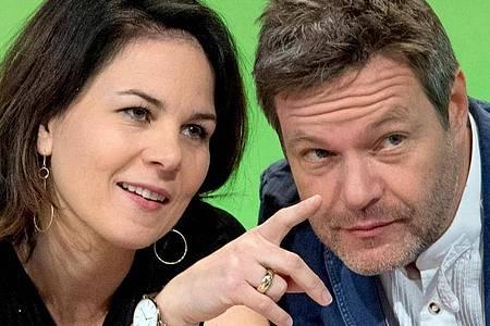 Annalena Baerbock und Robert Habeck, die Bundesvorsitzenden von Bündnis 90/Die Grünen. Foto: Hendrik Schmidt/zb/dpa