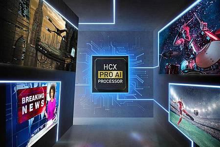 Panasonics HCX-Prozessor analysiert, was auf dem Bildschirm passiert und stellt die Anzeige entsprechend ein. Foto: Panasonic/dpa-tmn