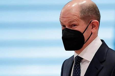 Olaf Scholz gibt sich zuversichtlich, dass der Gesetzesantrag im Kabinett beschlossen wird. Foto: Hannibal Hanschke/Reuters/Pool/dpa