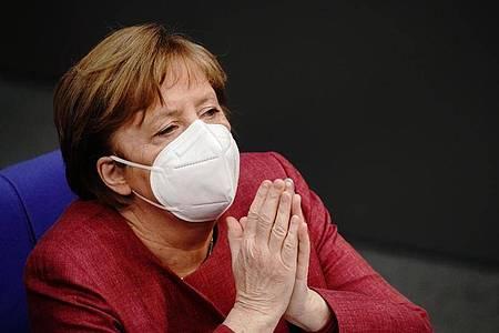 Bundeskanzlerin Angela Merkel hat ihre erste Schutzimpfung gegen das Coronavirus erhalten. Foto: Kay Nietfeld/dpa