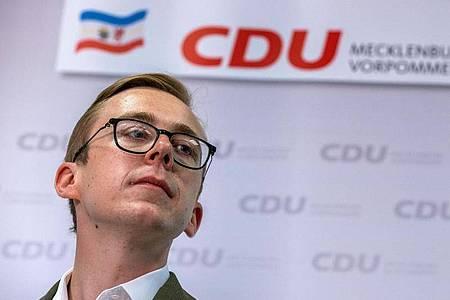 Die CDU in Mecklenburg-Vorpommern hält trotz der Lobbyismus-Vorwürfe an Philipp Amthor fest. Foto: Jens Büttner/dpa-Zentralbild/dpa