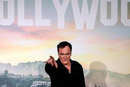"Regisseur Quentin Tarantino bei der italienischen Premiere seines Films ""Once Upon a Time in Hollywood"". Foto: Riccardo Antimiani/ANSA/AP/dpa"