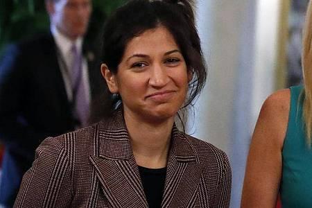 Katie Miller, Pressesprecherin von US-Vizepräsident Mike Pence, hat sich mit dem Coronavirus infiziert. Foto: Alex Brandon/AP/dpa