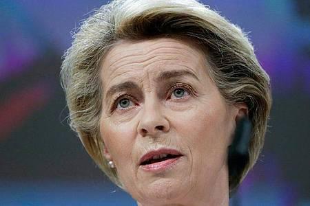 «Wir haben uns ehrgeizige Ziele gesetzt», sagt Kommissionspräsidentin Ursula von der Leyen. Foto: Aris Oikonomou/Pool AFP/AP/dpa