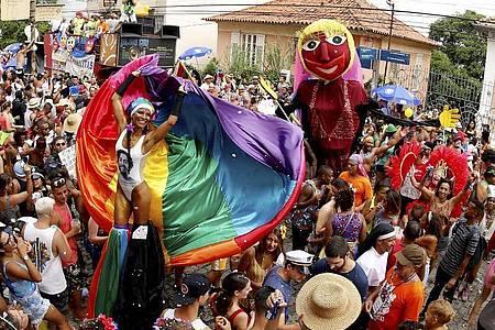 Rio de Janeiro hat Umzüge der Sambaschulen im Sambodrom und von Karnevalsgruppen wegen der Corona-Pandemie verboten. Foto: Marcelo Theobald/GDA via ZUMA Wire GDA via ZUMA Wire/dpa