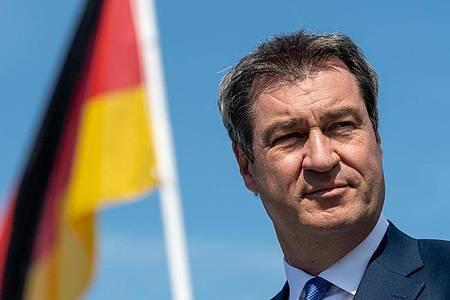 CSU-Chef Markus Söder gefällt der Vorstoß von Armin Laschet zum Lockdown. Foto: Peter Kneffel/dpa/Pool/dpa
