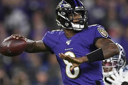 Großes Talent mit mangelnder Nervenstärke: Lamar Jackson von den Baltimore Ravens. Foto: Nick Wass/AP/dpa