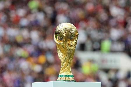 Deutschland bei der Auslosung der WM-Qualifikationsgruppen in Lostopf 1 gesetzt. Foto: Christian Charisius/dpa