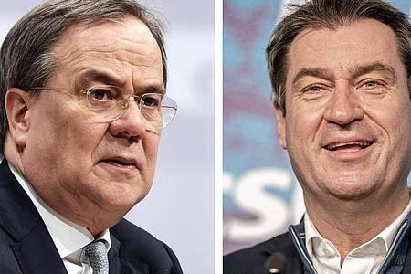 Sowohl Armin Laschet als auch Markus Söder haben sich zur Übernahme der Kanzlerkandidatur bereiterklärt. Foto: Michael Kappeler/dpa-Pool/dpa