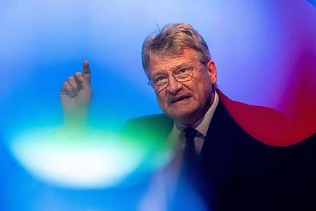 Jörg Meuthen im vergangenen Jahr während einer Wahlkampfveranstaltung der AfD. Foto: Fabian Sommer/dpa