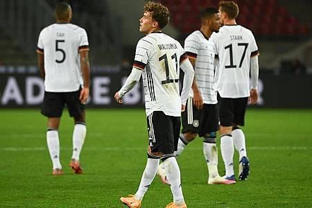 Die deutsche Fußball-Nationalmannschaft verspielte erneut eine Führung. Foto: Federico Gambarini/dpa