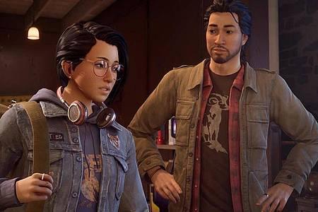 In «Life is Strange: True Colors» trifft Alex (links) ihren Bruder Gabe, nur um ihn bald auf tragische Weise zu verlieren. Foto: Square Enix/dpa-tmn