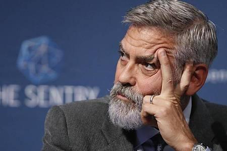 US-Schauspieler George Clooney spielt in dem Science-Fiction-Thriller «The Midnight Sky» einen Forscher. Foto: Alastair Grant/AP/dpa