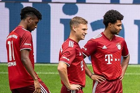 Steht bei den Bayern vor einer Vertragsverlängerung: Joshua Kimmich (M). Foto: Matthias Balk/dpa