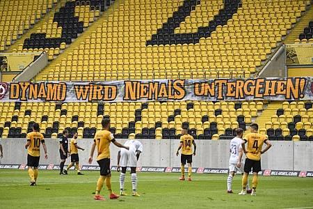 Dynamo Dresden musste sportlich den Weg in die 3. Liga antreten. Foto: Robert Michael/dpa-Zentralbild/dpa