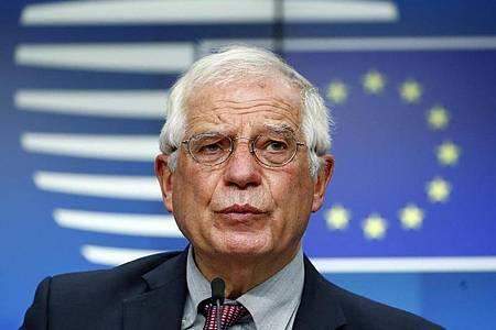 Josep Borrell will weiter versuchen, die Spannungen mit der Türkei über Verhandlungen zu reduzieren. Foto: Francois Lenoir/Reuters Pool/AP/dpa