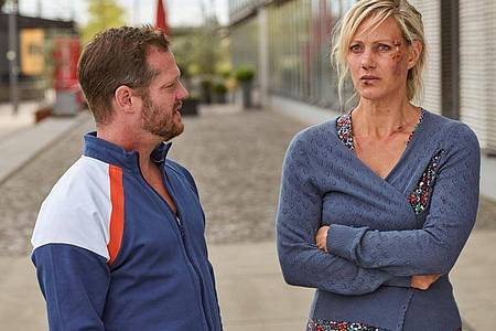 Anna Schudt und Aurel Manthei in dem ZDF-Krimi « Mordshunger - Verbrechen und andere Delikatessen». Foto: Frank Dicks/ZDF