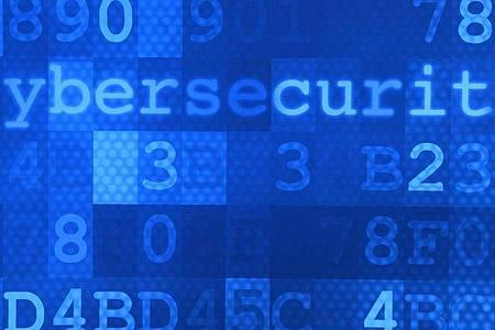 Das Wort «Cybersecurity» steht auf einem Plakat im Hasso-Plattner-Institut (HPI). Foto: Ralf Hirschberger/dpa-Zentralbild/dpa