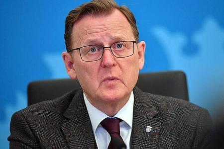 Thüringens Ministerpräsident Bodo Ramelow erntet für seinen kontroversen Tweet Kritik. Foto: Martin Schutt/dpa-Zentralbild/dpa
