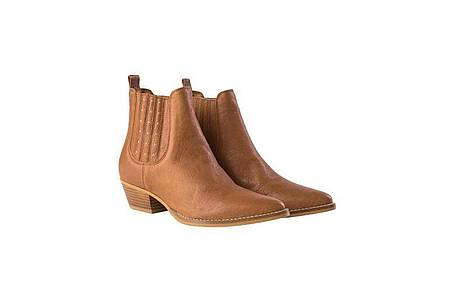 Sommerliche Stiefel - hier zum Beispiel von Mos Mosh aus braunem Leder - bleiben angesagt (189 Euro). Foto: Mos Mosh/dpa-tmn
