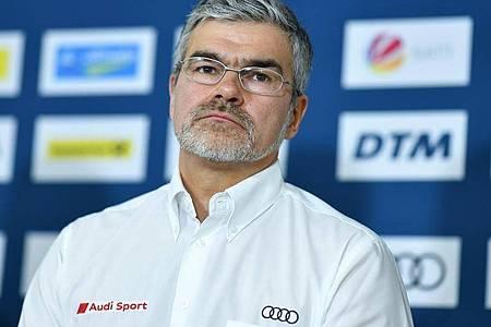 Will das DTM-Engagement mit der Meisterschaft beenden: Audi-Motorsportchef Dieter Gass. Foto: Uwe Anspach/dpa