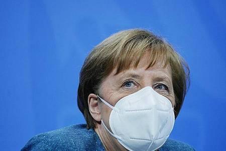 Bundeskanzlerin Merkel hat sich mit den Länderchefs über die Impfsituation beraten. Foto: Michael Kappeler/dpa-pool/dpa