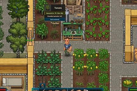 «CryoFall» beginnt zunächst sehr landwirtschaftlich. Es soll ja schließlich genug zum Essen geben. Foto: Daedalic/dpa-tmn