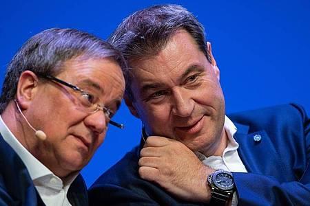 Wer wird Kanzlerkandidat der Union - Laschet oderSöder?. Foto: Guido Kirchner/dpa