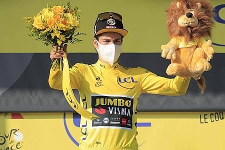 Primoz Roglic machte einen großen Schritt in Richtung Gesamtsieg bei der Tour de France. Foto: Christophe Petit Tesson/EPA/AP/dpa