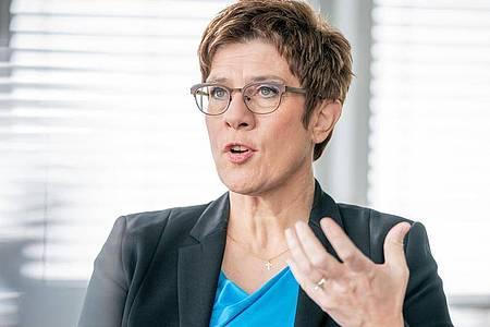 Die Noch-CDU-Vorsitzende Annegret Kramp-Karrenbauer. Foto: Michael Kappeler/dpa