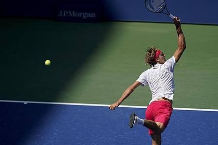 Alexander Zverev erreichte das Viertelfinale in New York. Foto: Seth Wenig/AP/dpa