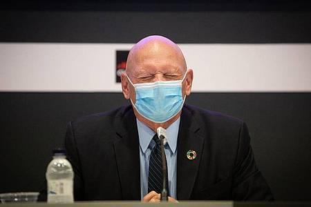 John Hoffman, CEO der Mobilfunk-Anbieter-Vereinigung (GSMA), die die Messe MWC veranstaltet. Die Messe ist wegen der Corona-Pandemie auf Ende Juni verschoben worden. Foto: David Zorrakino/EUROPA PRESS/dpa