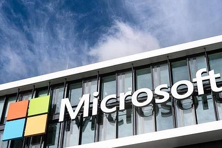 Die Microsoft-Deutschland-Zentrale in München. Foto: Matthias Balk/dpa
