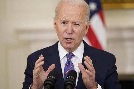 Vor dem Klimagipfel: US-Präsident Joe Biden erklärt den Kampf gegen die Erderwärmung zur Priorität. Foto: Andrew Harnik/AP/dpa