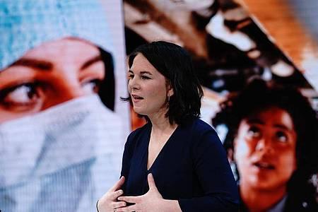Die Grünen-Vorsitzende Annalena Baerbock will Kanzlerin werden. Foto: Kay Nietfeld/dpa