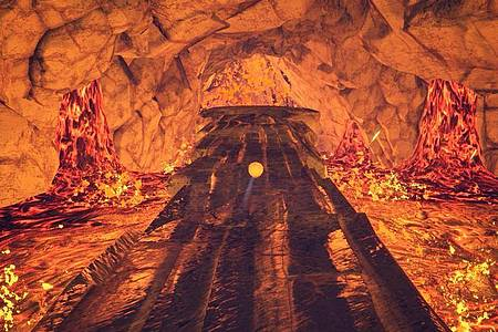 «Skully» ist ein klassisches Hüpf- und Rätselspiel - klar, dass es da auch eine Lavawelt gibt. Foto: Modus Games/dpa-tmn
