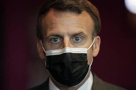 Emmanuel Macron, Präsident von Frankreich. (Archivbild). Foto: Thibault Camus/AP/dpa