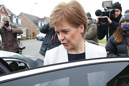 Die schottische Regierungschefin Nicola Sturgeon. Foto: Andrew Milligan/PA Wire/dpa