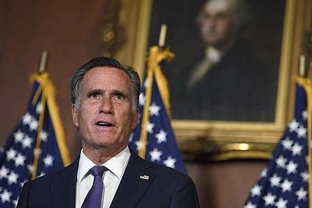 US-Senator Mitt Romney kritisiert Trumps Abzugspläne aus Deutschland heftig. Foto: Susan Walsh/AP/dpa