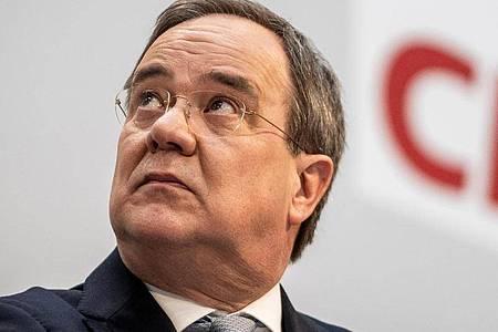 CDU-Chef Armin Laschet verlangt eine schnelle Einigung über die Kanzlerkandidatur in der Union. Foto: Michael Kappeler/dpa