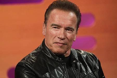 Schauspieler Arnold Schwarzenegger, hier ist er 2019 zu Gast in der Graham Norton Show, erhält eine Netflix-Serie. Foto: Isabel Infantes/PA Wire/dpa