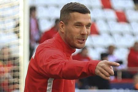 Lukas Podolski 2020 im Trikot des türkischen Fußballclubs Antalyaspor. Foto: -/AP/dpa