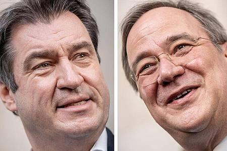 Markus Söder oder ArminLaschet? Die Entscheidung zur Kanzlerkandidatur soll in den nächsten Tagen fallen. Foto: Michael Kappeler/dpa