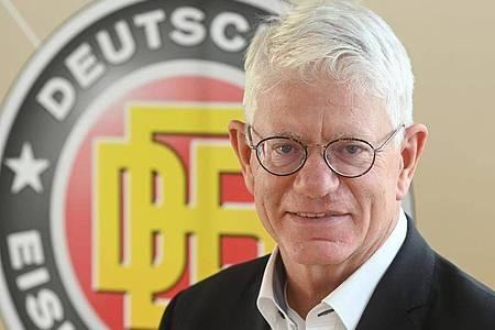 Franz Reindl, Präsident des deutschen Eishockey-Bundes. Foto: Tobias Hase/dpa