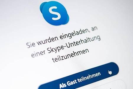 Keine Registrierung erforderlich: Skype ermöglicht jetzt die Teilnahme an Videokonferenzen ohne Anmeldung und Programm-Installation. Foto: Catherine Waibel/dpa-tmn
